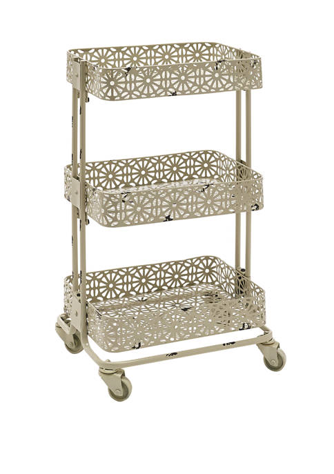 Linon Home Décor Products Creed Metal 3 Tier