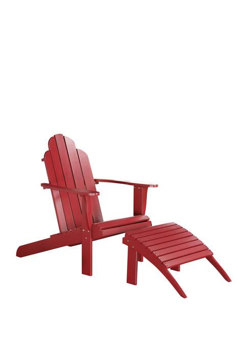 Linon Home Décor Products Villa Red Adirondack Chair