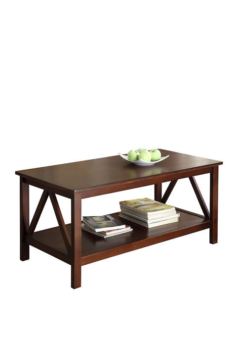 Linon Home Décor Products Larson Antique Coffee Table