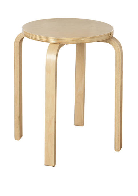 Linon Home Décor Products Mercer Natural Bentwood Stool