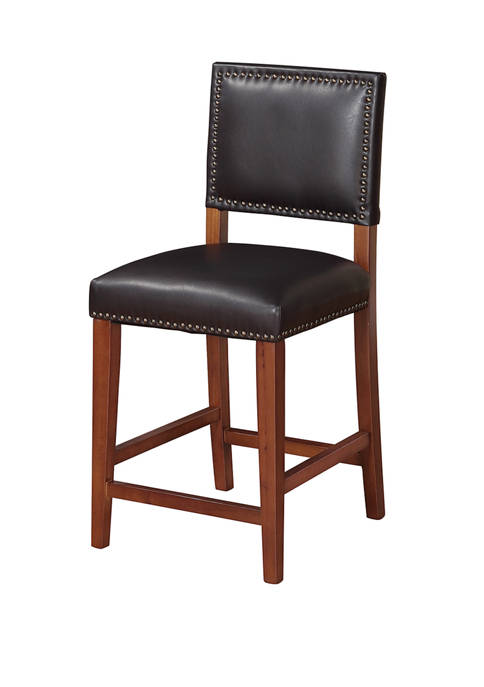 Linon Home Décor Products Quinn Black Counter Stool