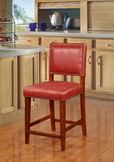 Linon Home Décor Products Quinn Red Counter Stool