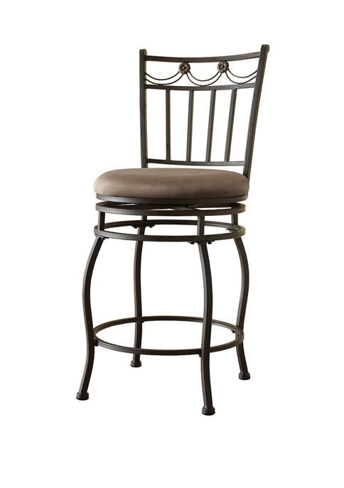 Linon Home Décor Products Morris Swag Counter Stool