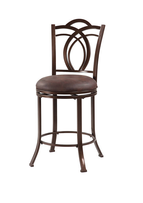 Linon Home Décor Products Houston Metal Counter Stool