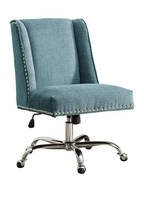 Linon Home Décor Products Lincoln Office Chair Aqua