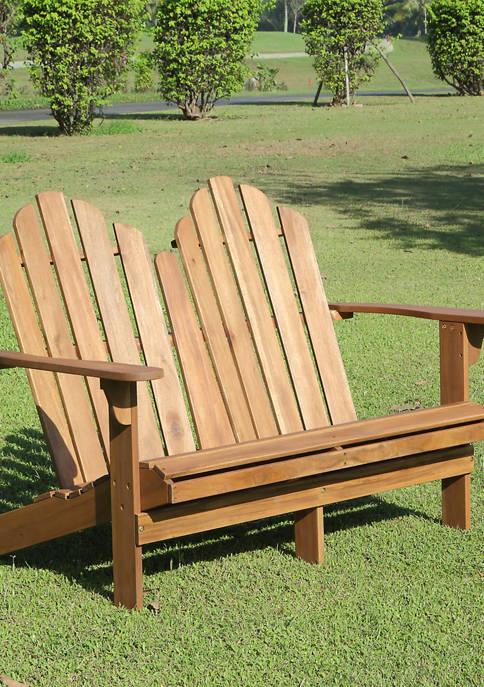 Linon Home Décor Products Villa Adirondack Double Bench