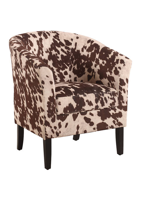 Linon Home Décor Products Austin Cow Print Chair