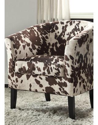 Austin Cow Print Chair
