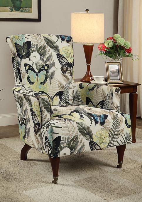 Linon Home Décor Products Halia Butterfly Arm Chair
