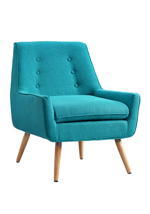 Linon Home Décor Products Arin Bright Blue Chair