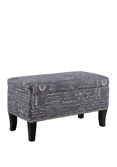 Linon Home Décor Products Mattie Script Ottoman