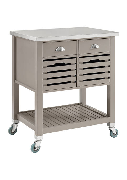 Linon Home Décor Products Hudson Gray Wood Kitchen