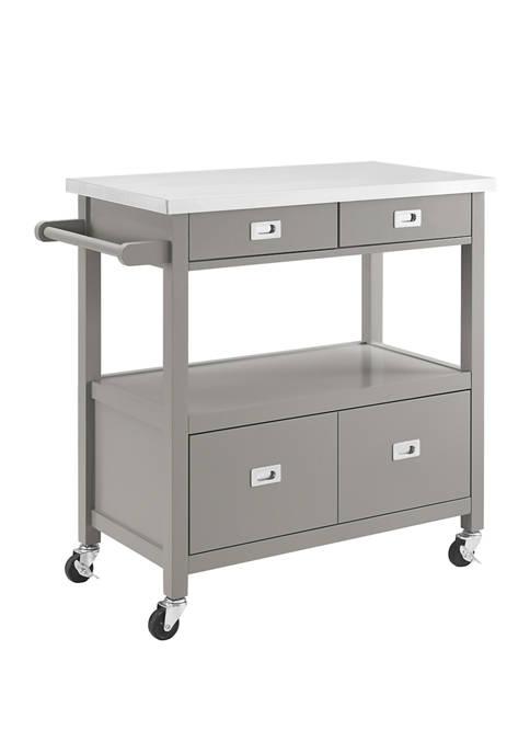 Linon Home Décor Products Davis Kitchen Cart