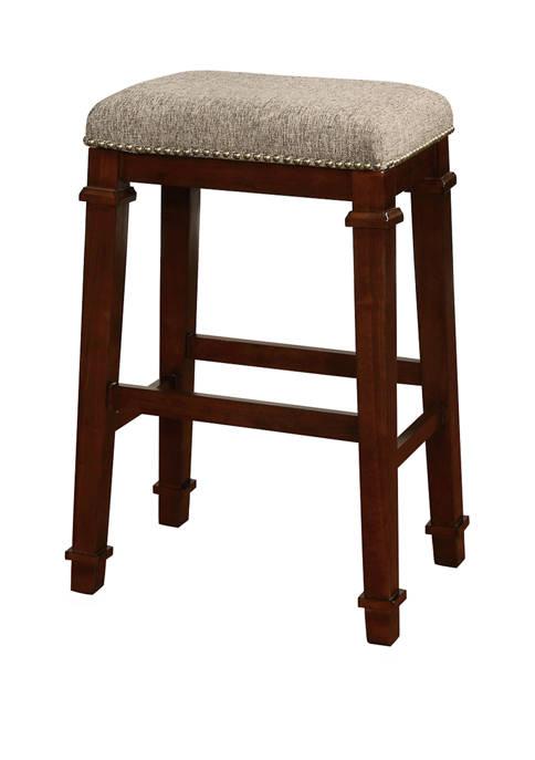 Linon Home Décor Products Ashford Backless Tweed Bar