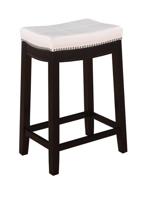 Linon Home Décor Products Dallas White Counter Stool
