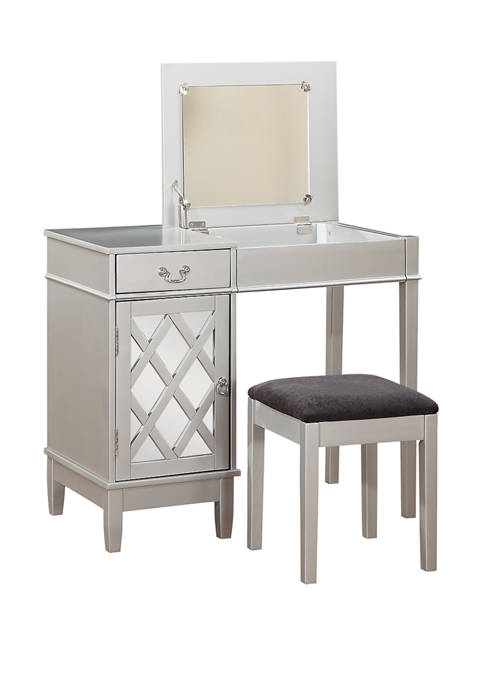 Linon Home Décor Products Gloria Lattice Vanity Set