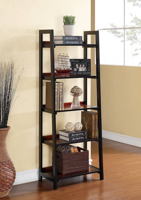 Linon Home Décor Products Reid Five Shelf Bookcase