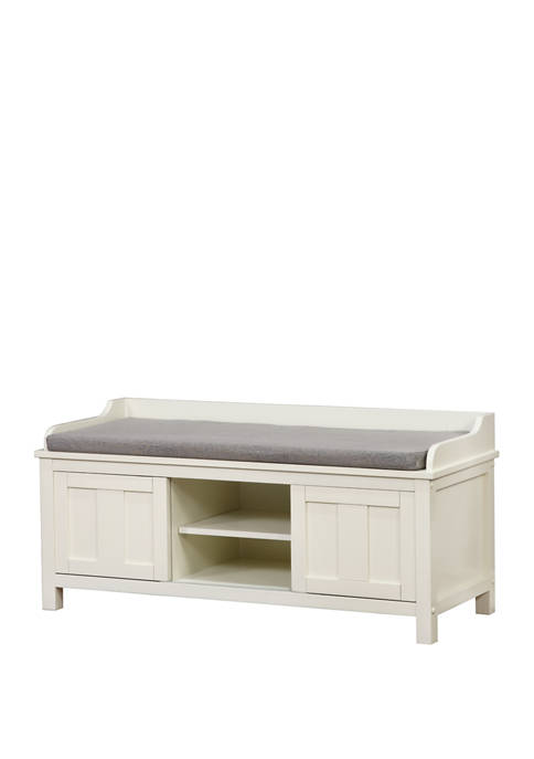 Linon Home Décor Products Baron White Storage Bench