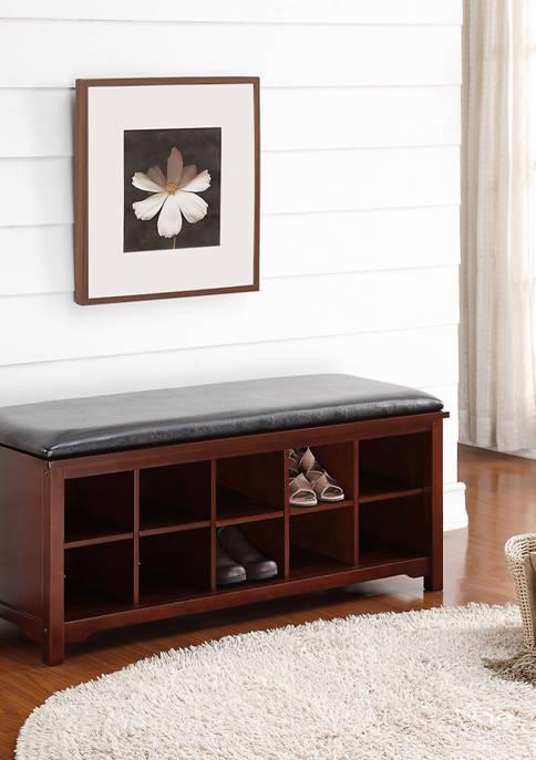 Linon Home Décor Products Nash Dark Walnut Bench