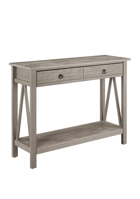 Larson Driftwood Console Table