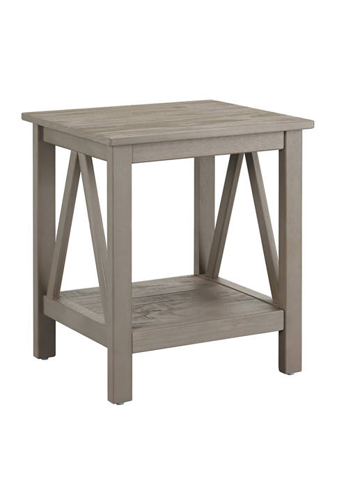 Linon Home Décor Products Larson Driftwood End Table