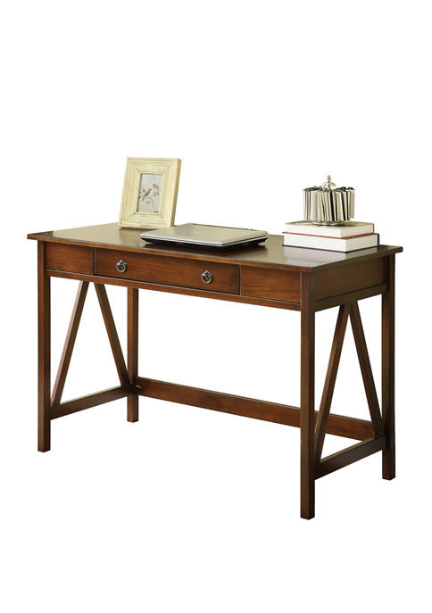Linon Home Décor Products Larson Antique Tobacco Desk