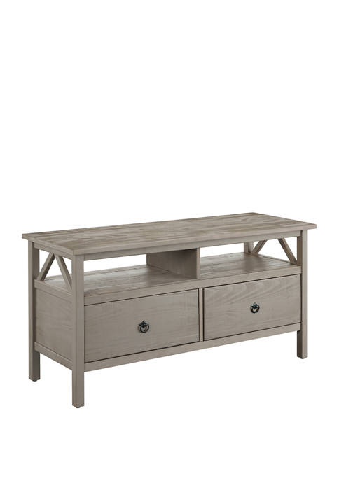 Linon Home Décor Products Larson Driftwood TV Stand