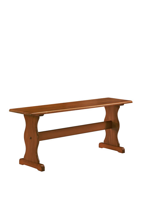 Linon Home Décor Products Audra Walnut Bench