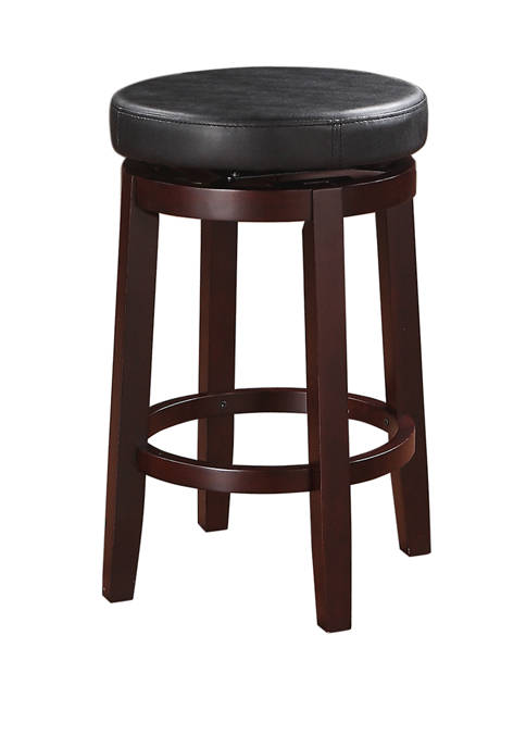 Linon Home Décor Products Natasha Black Counter Stool