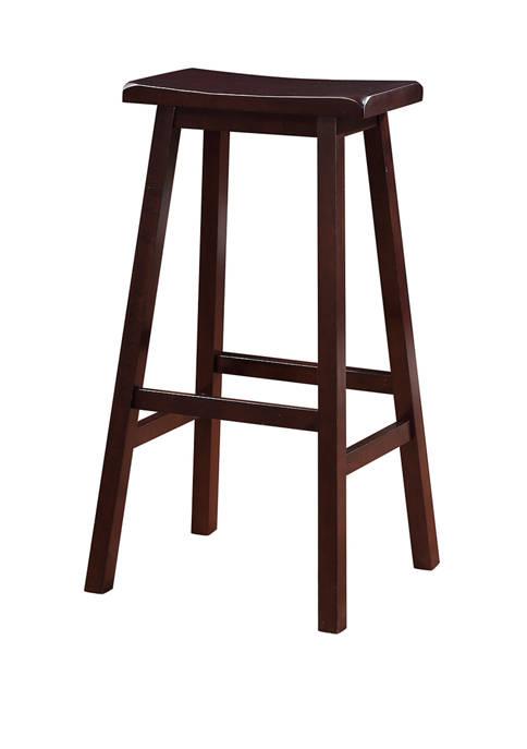 Linon Home Décor Products Sam Saddle Bar Stool