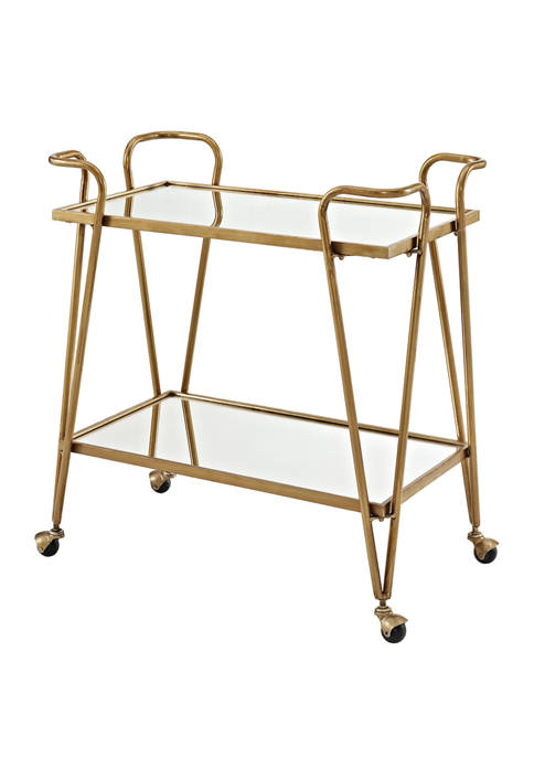 Linon Home Décor Products Blakely Gold Mid-Century Bar