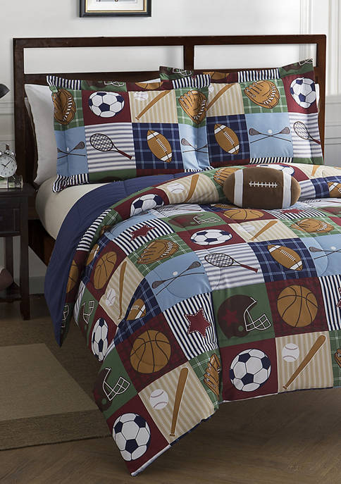 Mytex Team Sport Collegiate Comforter Set with Football