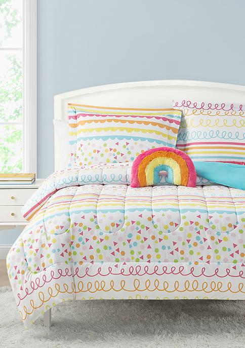 MADISON PARKER Color Pop Rainbow Reversible Comforter Set