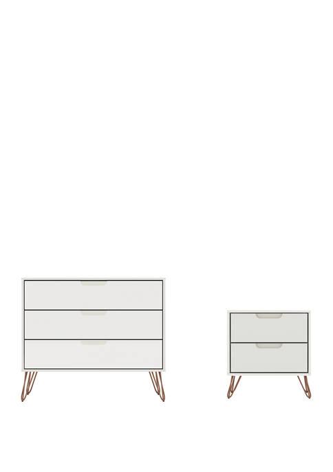 Manhattan Comfort Rockefeller Dresser and Nightstand