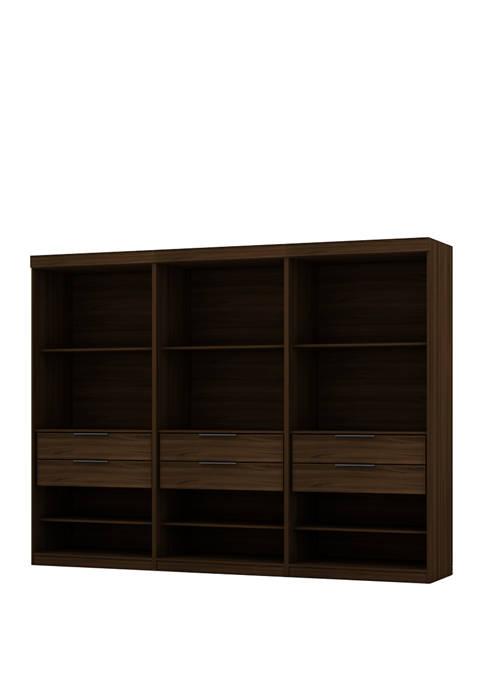 Mulberry Open 3 Sectional Wardrobe Closet - 3 Piece Set
