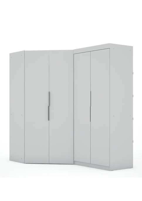 Mulberry 3.0 Sectional Corner Wardrobe Closet - 2-Piece Set