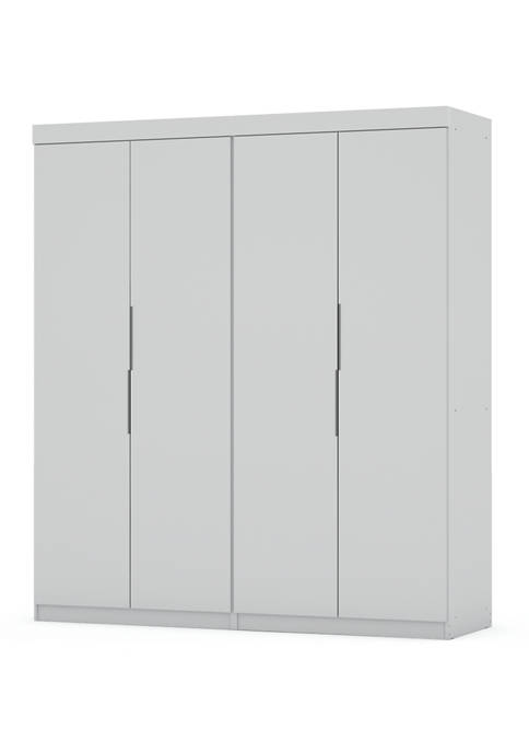 Manhattan Comfort Mulberry 2 Sectional Wardrobe Closet