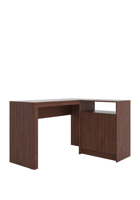 Manhattan Comfort Kalmar L Shaped Office Desk with