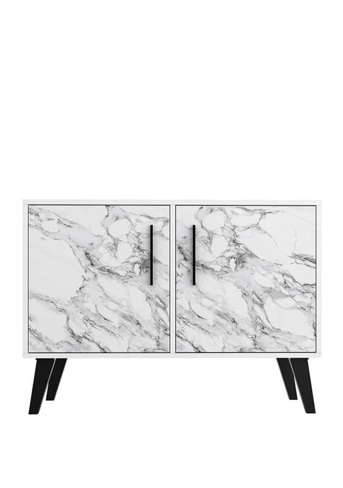 White Marble Amsterdam Double Side Table 2.0