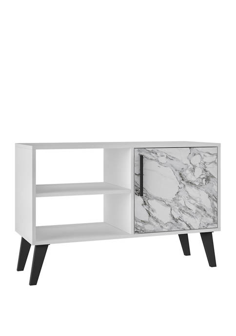 35.42 Inch White Marble Amsterdam TV Stand