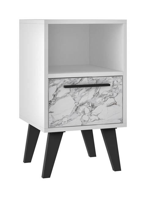 White Marble Amsterdam Nightstand 1.0