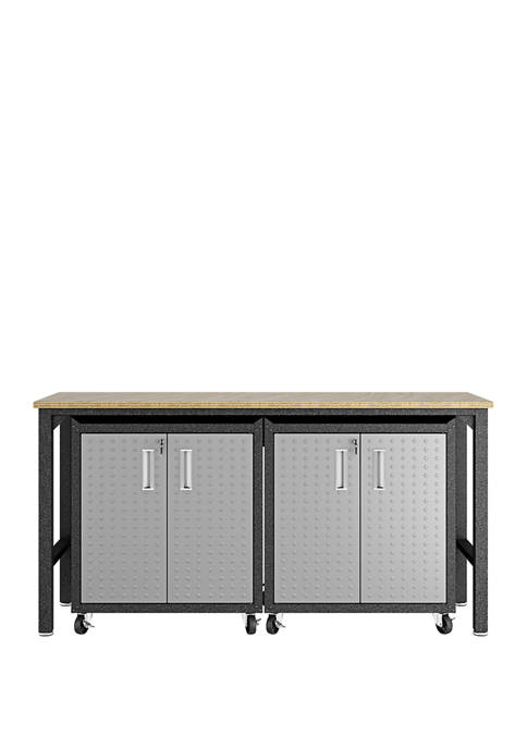 Fortress 3 Piece Mobile Garage Cabinet and Worktable 1.0
