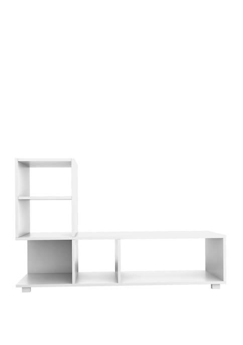 Manhattan Comfort 47.24 Inch White Lagarto Bookcase