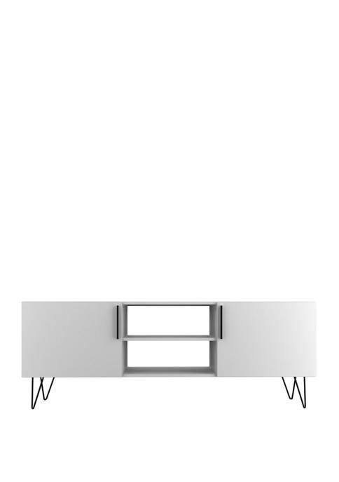 Manhattan Comfort 63 Inch White Nolita TV Stand