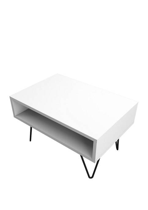 Manhattan Comfort 21.06 Inch White Nolita Coffee Table