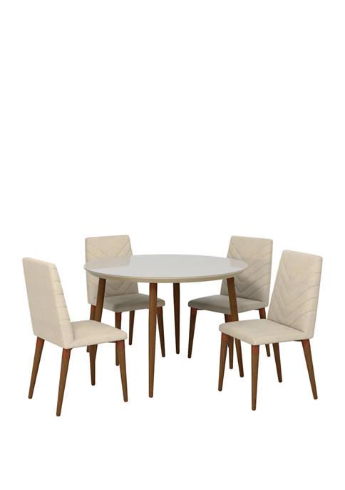 Manhattan Comfort 45.28 Inch Utopia Round Dining Table