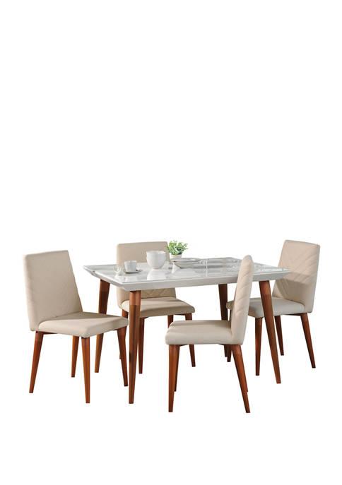 Manhattan Comfort 47.24 Inch 5 Piece Utopia Dining