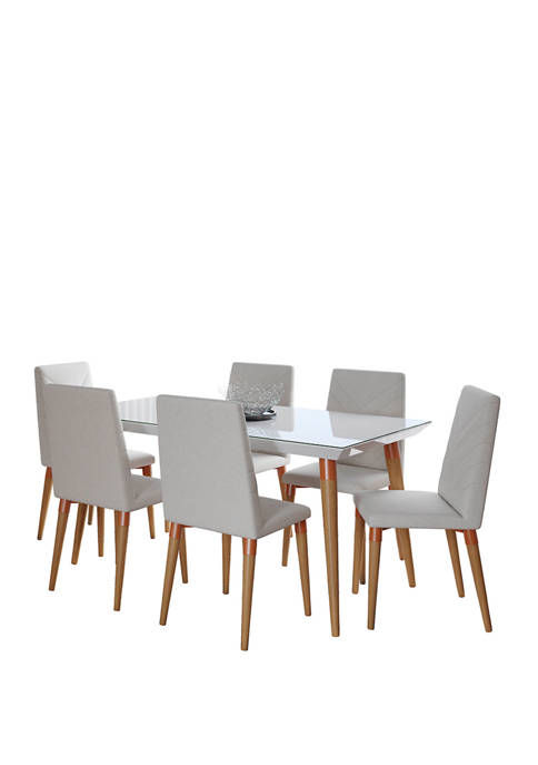62.99 Inch 7 Piece Utopia Dining Set