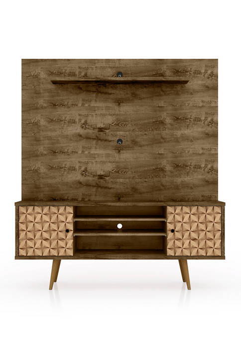 Manhattan Comfort 63 Inch Rustic Brown and Maple