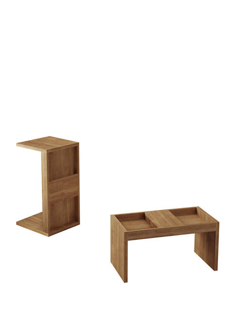 Manhattan Comfort Marine Accent End and Coffee Table